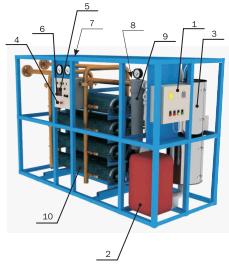 Состав и внешний вид азотных мембранных установок
